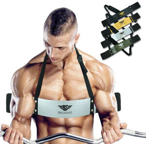 Bicep Isolator Blaster Barbell Bar Weight Lifting Arm Training Bomber Curl