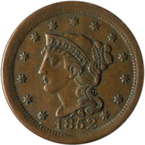 1852-Large-Cent-N-6-R-2-Great-Deals-From-The-Executive-Coin-Company-BBLC3724