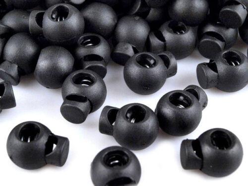 10 Kordelstopper rund 15x19 mm ein Loch für Kordel bis 5mm