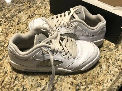 watch 79577 0ffc2 Nike Air Jordan 5 Youth Used Retro Low GG Size 5.5 Y819172-122 Basketball  Shoes   eBay