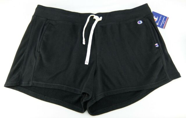 8ad9350cedd3 Champion Womens Athletic Shorts Retro Styling Black Cotton Blend Size L