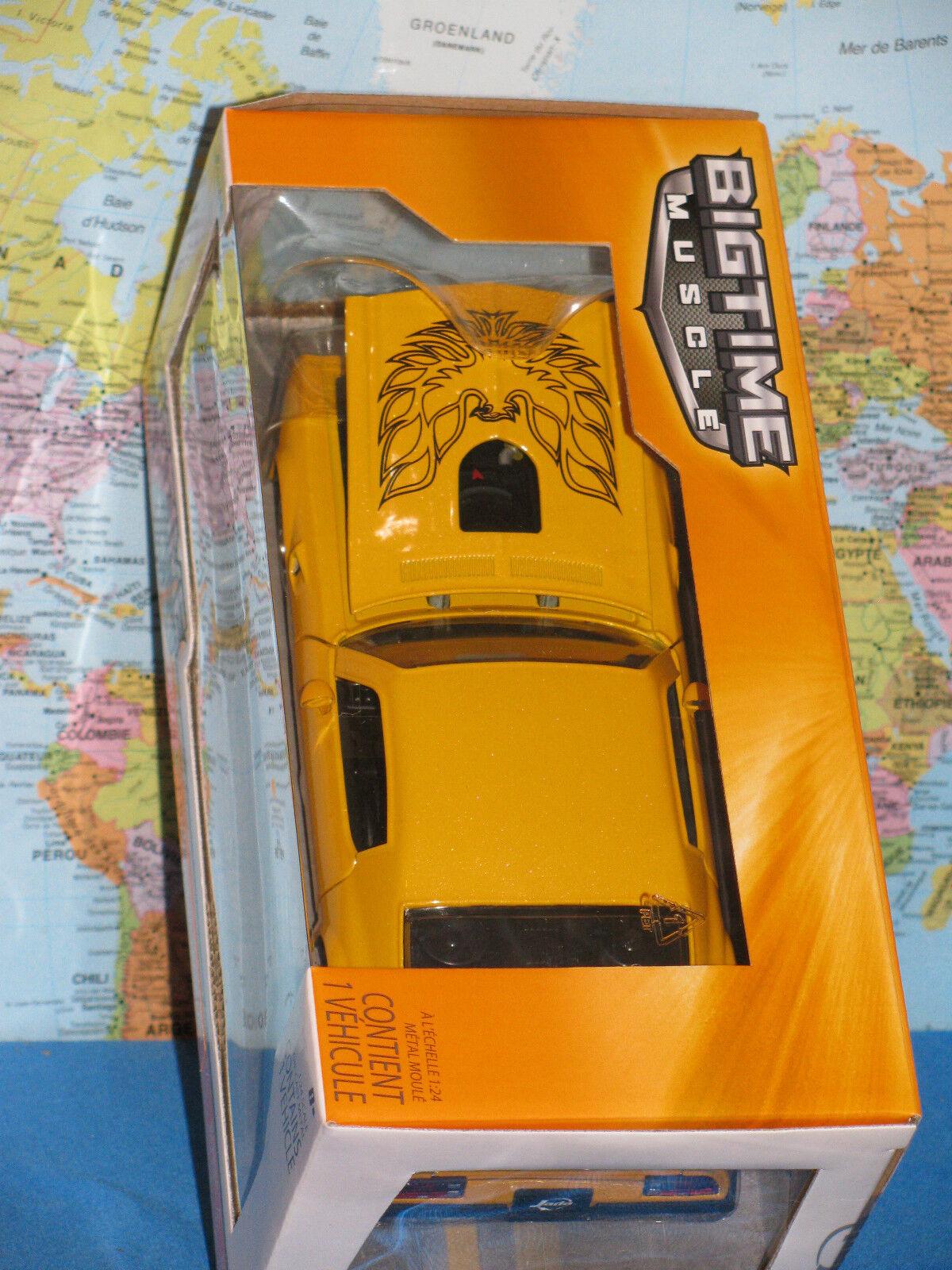 1 24 Jada Bigtime Muscle 1972 Pontiac Firebird Trans Am Jaune Tout Nouveau