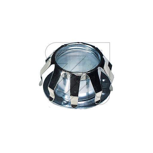 Metall-Schraubring chrom mit Federn für Fassung E14 Glashaltefeder