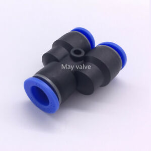 5 pc Y Union 6 mm 1//4 Splitter Pneumatic Connector Push in Fitting Air Hose