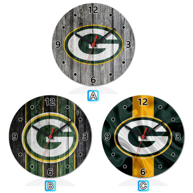 Green Bay Packers Sport Wooden Wall Clock Modern Home Room ...