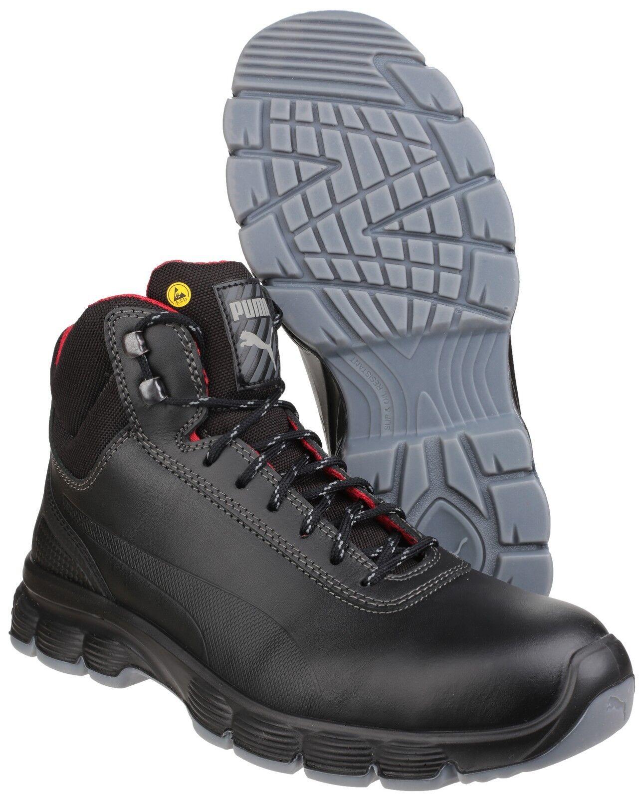 Puma Pioneer Mid Safety Steel Toe Cap Mens Water Resistant Work Boots UK6-12