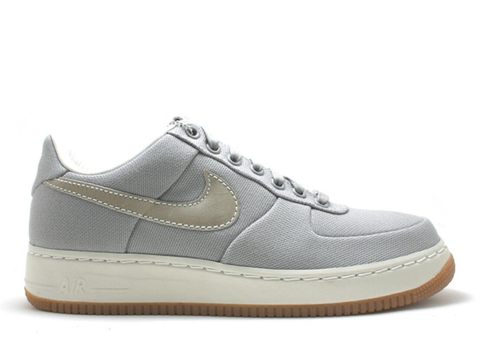 2007 Nike Air Force 1 Supreme'07 TAILLE 12 gris moyen toile blanc cassé 316133-011