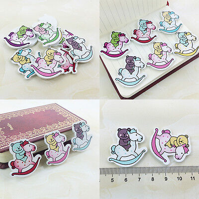 50/100 Bulk Cute Bear Wooden Sewing Buttons Scrapbooking 2Holes For Baby