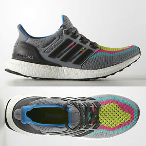 more photos 5b7ab bb3ed Details about adidas Ultra Boost 2.0 Mens Grey Multi Running Shoes AQ4003  UltraBOOST SIZE 6-7