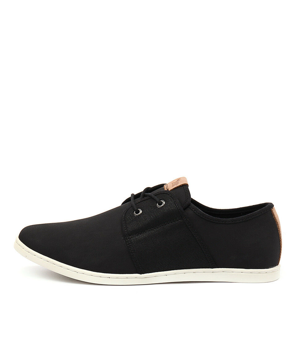 New Wild Shoes Rhino Denzell Black Mens Shoes Wild Casual Shoes Flat 0e8ef0