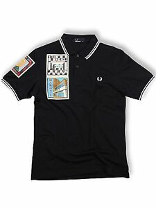 Fred-Perry-Polo-Shirt-M4247-608-Navy-Weiss-Margate-On-The-Run-Kollektion-5401