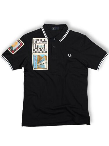 Fred Perry Polo Chemise m4247 608 navy//blanc Margate on the run collection 5401