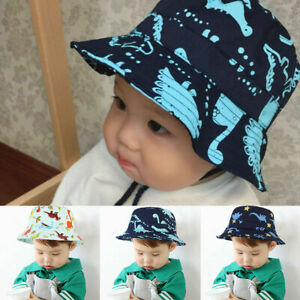 Children-Boys-Cartoon-Dinosaur-Bucket-Hat-Cotton-Summer-Beach-Kids-Baby-Sun-Cap