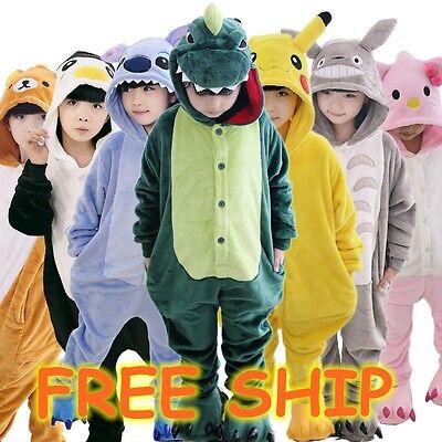 Hot sale kids Pajamas Kigurumi Unisex Cosplay Animal Costume bodysuit sleepwear
