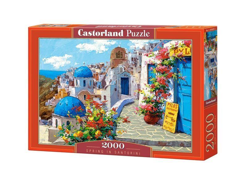 Castorland puzzle 2000 stcke - frhling in santorini 36  x27  versiegelte kiste c-200603