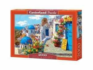 "Castorland Puzzle 2000 Pieces - Spring in Santorini 36""x27"" Sealed box C-200603"