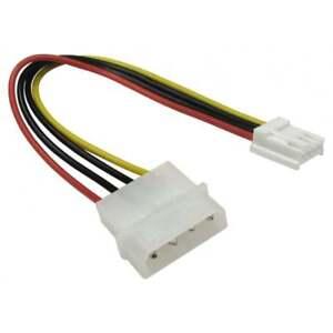 """5,25 """" 4 Pin Molex à 3,5"""" Lecteur De Disquette Fdd Plug Câble D'alimentation Interne Adaptateur-afficher Le Titre D'origine Gk3be9em-07161435-491110716"""