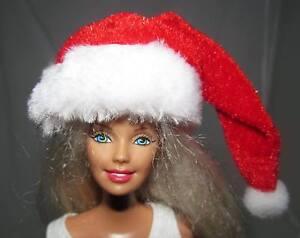 Christmas-Holiday-Miniature-Mini-Santa-Claus-Hat-Barbie-Ken-Fashion-Doll-OOAK
