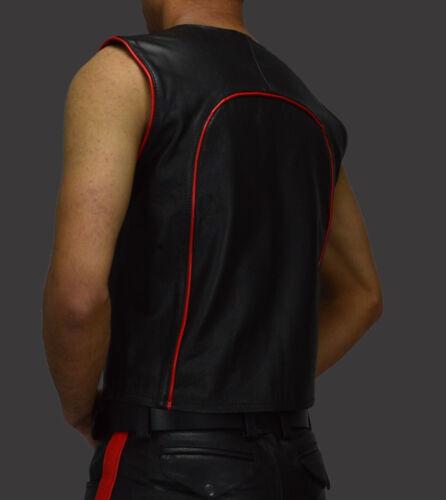 Cuir 2xl lederjacke Lederweste Gr veste Weste Leder club waistcoat Weste biker n8wv4nYFqP