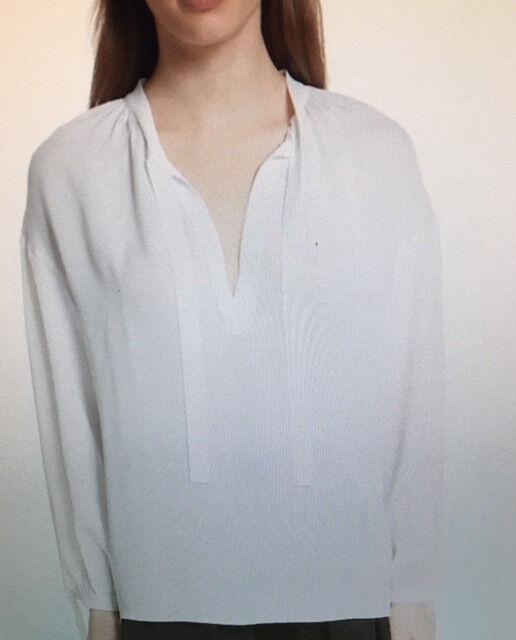 Vince Tie front Poet blouse M Größe,silk, Weiß, original price