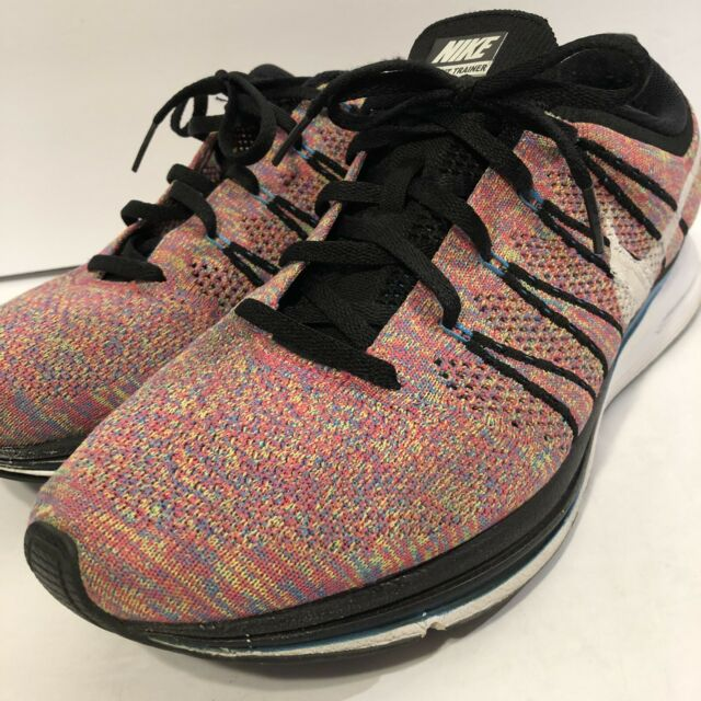 732a4e9d71eb Nike Flyknit Trainer Multicolor sz 10.5 Zoom Air Men s 532984-014 Padded  2012
