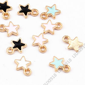 20pc-Enamel-Small-Star-Pendant-Charm-Beads-Earring-Bracelet-Making-Finding-959H