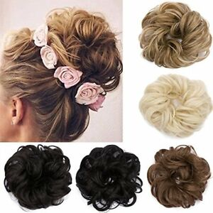 Natural-Curly-Messy-Bun-Hair-Piece-Scrunchie-Updo-Cover-Hair-Extensions-UK-Style
