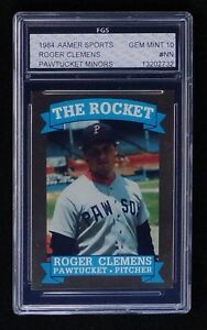 Details About 1984 Aamer Sports Roger Clemens Minor League Rookie Card Fgs 10 Gem Mt Rare