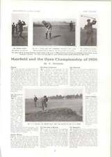 1906 Campeonato Abierto de Golf Muirfield Barry Mitchell Hoffman