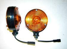 2-Amber Safety WARNING LIGHT PAIR 12V for Massey Ferguson Tractors & Equipment