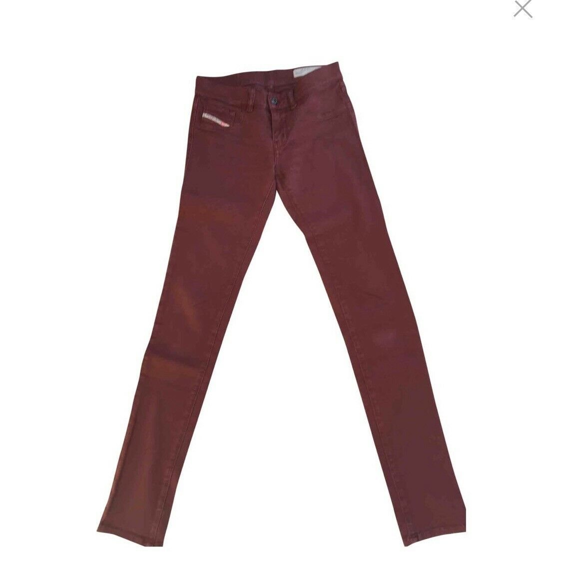 Diesel Livier Super Slim Jegging Low Waist W30 Burgundy Jeans