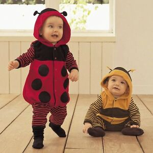 Image is loading Baby-Boy-Girl-Ladybug-Bee-Halloween-Fancy-Dress-  sc 1 st  eBay & Baby Boy Girl Ladybug/Bee Halloween Fancy Dress Party Costume Outfit ...
