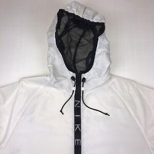 Nike Vintage Hoodie Mens Size XL White Black Hooded Zip