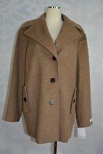 "Calvin Klein    size 1X  Wool blend  ""Oatmeal"" colored coat  NWT"