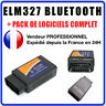 Interface Diagnostique Multimarques ELM327 BLUETOOTH / ELM 327 / OBD2 / Android