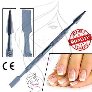 Cuticle Nail Pusher Scraper Dual Manicure Tool Nail Art Removal