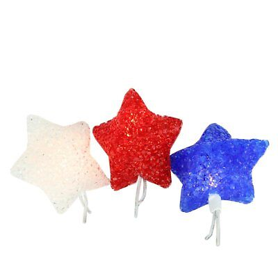 3ct PATRIOTIC Red White Blue Flag Decoration Glitter BOWS Combo 4TH OF JULY USA