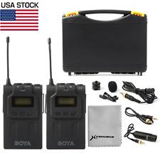 BOYA BY-WM6 Lavalier Clip Mic UHF Wireless Microphone System For DSLR Cam LF731