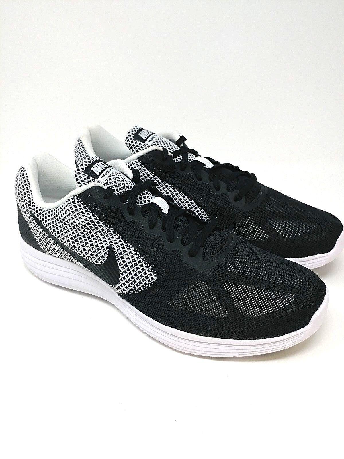 Nike Revolution 3 SIZE 11 White Black