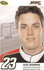 2014 Alex Bowman BK Racing Toyota Camry NASCAR Sprint Cup postcard