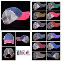 Baseball Cap Plain Hat Vintage Trucker Fashion Unisex Cotton Hats Mesh Caps