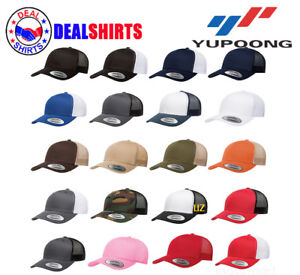 8324d65be5a403 Image is loading Yupoong-Retro-Trucker-Cap-Mesh-back-structured-mid-