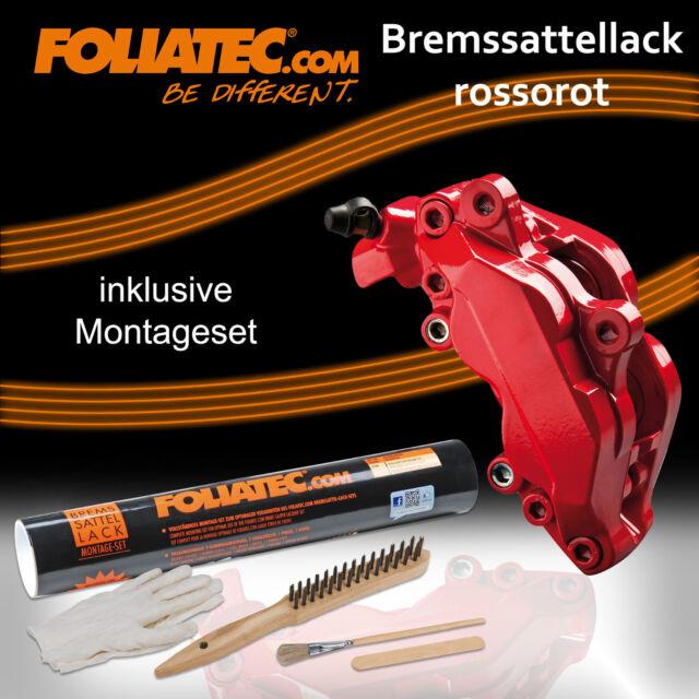 FOLIATEC Bremssattel Lack  SET ROSSO ROT 2160 + BREMSSATTELLACK MONTAGE SET