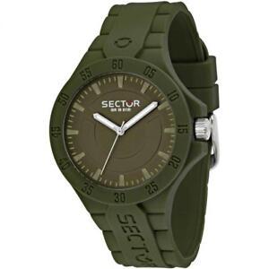 Orologio-Uomo-SECTOR-STEELTOUCH-R3251586008-Silicone-Verde-Militare-Sub-100mt