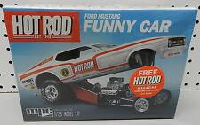 FORD MUSTANG FUNNY CAR  HOT ROD MAGAZINE 1972 LONGNOSE DRAG RACE MPC MODEL KIT