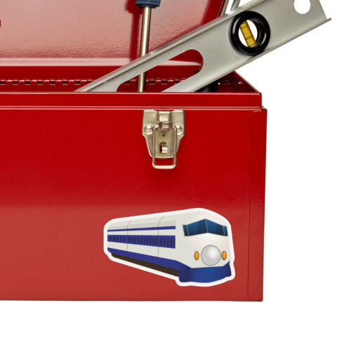 2 x Modern Train Vinyl Sticker iPad Laptop Car Fun Gift Dad Set Kids Decal #4463
