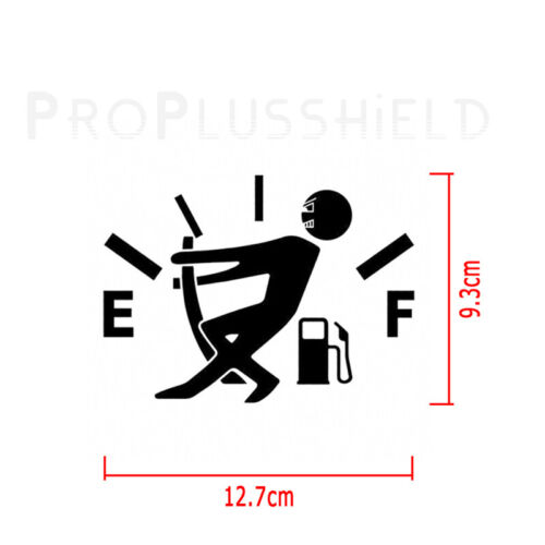 1pc Funny Car Vinyl Sticker High Gas Consumption Decal Fuel Gage Empty black