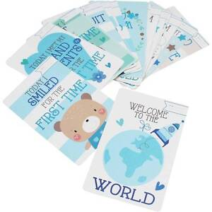 30 BABY BOYS  MEMORABLE MOMENTS MILESTONE CARDS NEW BABY SHOWER GIFT  5033601664246