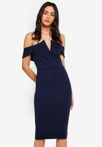 Missguided-Dropped-Sleeve-Midi-Dress-size-12