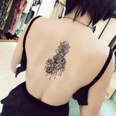 Sexy Purple Rose Flower Arm Leg Tattoo Women Temporary Body Art Tattoos Sticker 8431237848110 Ebay